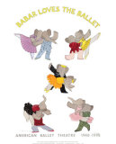Babar Loves the Ballet Prints by Laurent de Brunhoff