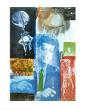Retroactive I Posters by Robert Rauschenberg