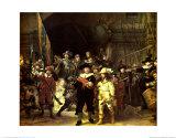 La ronda de noche, 1642 Láminas por  Rembrandt van Rijn