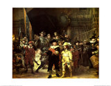The Night Watch, 1642 Prints by Rembrandt van Rijn 