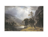 Half Dome, Yosemite Valley Art by Albert Bierstadt