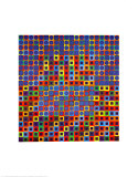 Zebegen Prints by Victor Vasarely