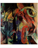 Forest with Squirrel Kunst af Franz Marc