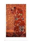 Gustav Klimt - Fulfillment, Stoclet Frieze, c.1909 Plakát
