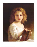 The Story Book Arte por Bouguereau, William Adolphe