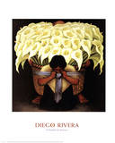 El Vendedor de Alcatraces Poster av Rivera, Diego