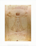 Leonardo da Vinci - Vitruvian Man, c.1492 Reprodukce