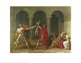 The Oath of the Horatii, 1784 Posters av Jacques-Louis David
