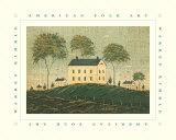 Farm House on Hill Poster par Warren Kimble