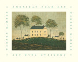 Farm House on Hill Poster by Warren Kimble