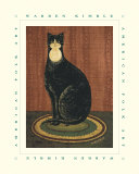 Black Cat with Bib Print by Warren Kimble