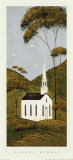 Country Panel I, Church Poster by Warren Kimble