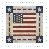 Flag Square Prints by Warren Kimble