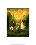 Children Playing Tennis Prints by Mary Mackey