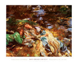 Brook Art by John Singer Sargent