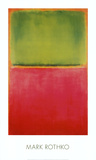 Groen en Rood op Oranje Print van Mark Rothko