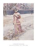 Lady in Pink Posters by Childe Hassam