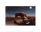 Schlafender Zigeuner Kunstdrucke von Henri Rousseau