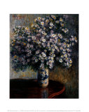Asters, 1880 Prints by Claude Monet