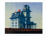 Edward Hopper - House by the Railroad, 1925 Reprodukce