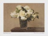 Stillleben mit weißen Rosen Kunstdrucke von Henri Fantin-Latour