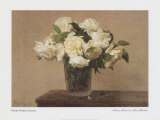 Still Life with White Roses Poster by Henri Fantin-Latour