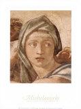 Delphic Sibyl Plakater af Michelangelo Buonarroti