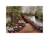 Bridge of Flowers Posters by Diane Romanello