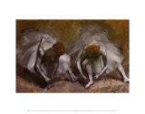 Frieze of Dancers (detail) Print by Edgar Degas