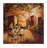 Cafe al Jardi Poster by Didier Lourenco