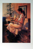 Sunday Girl Print by Raymond Leech