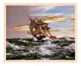 Dawn Chase Prints by Montague Dawson