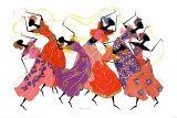 Bailarina principal en túnica morada Láminas por Augusta Asberry