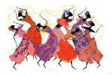 Lead Dancer in Purple Gown Prints by Augusta Asberry