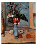 Blue Vase Prints by Paul Cézanne
