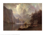 In the Mountains Art by Albert Bierstadt
