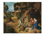 The Adoration of the Shepherds, c.1505-10 Plakat af Giorgione