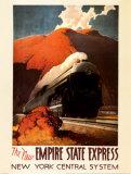 Empire State Express Poster af Leslie Ragan