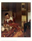Joven durmiendo, ca. 1657 Láminas por Jan Vermeer