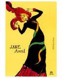 Jane Avril, 1899 Kunstdrucke von Henri de Toulouse-Lautrec