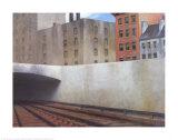 Approche d'une ville Affiches par Edward Hopper