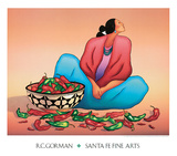 Chili Fiesta Prints by R. C. Gorman