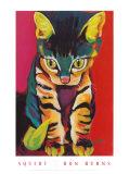 Farbige Katze Kunstdrucke von Ron Burns