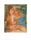 Mutter und Kind Kunstdrucke von Pablo Picasso