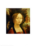 Portrait of Ginevra de&#39;Benci. c.1478-1480 Prints by Leonardo da Vinci 