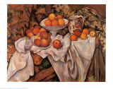 Still Life with Apples and Oranges, c.1895-1900 Posters by Paul Cézanne