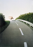 Autobahn Pig Poster af Michael Sowa