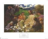 Christ and the Little Children Plakater af Endre Komaromi-Kacz