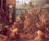 The Entry of the Crusaders into Constantinople, 1840 Posters by Eugene Delacroix