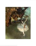 La estrella Láminas por Edgar Degas